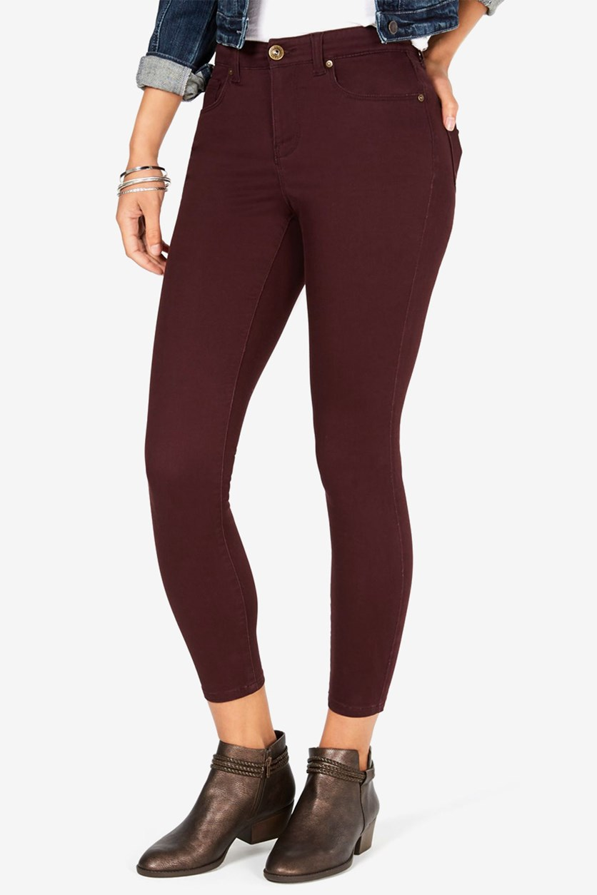 Super-Skinny Brushed Ankle Jeans, Rhone