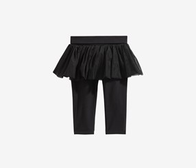 Baby Girls Tutu Leggings, Black