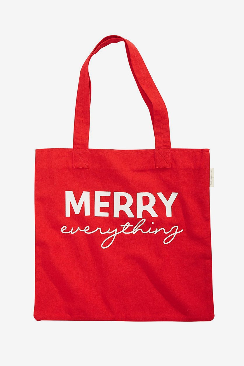 Holiday Cotton Tote Bag, Red