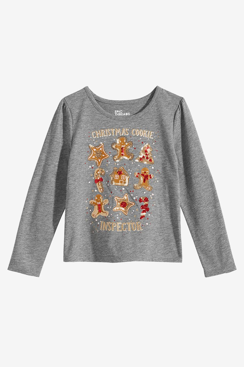 Little Girls Shirt, Pewter Heather