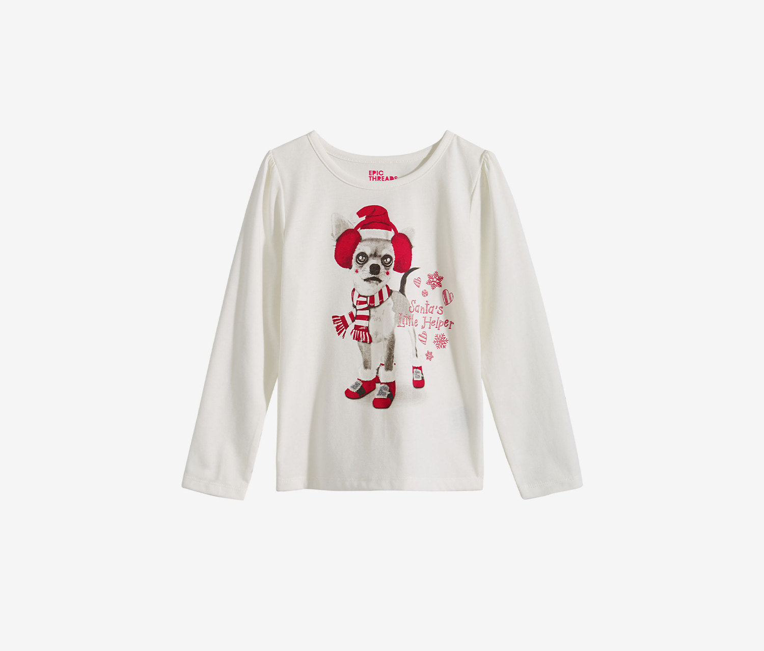 Toddlers Graphic Tee, Holiday Ivory