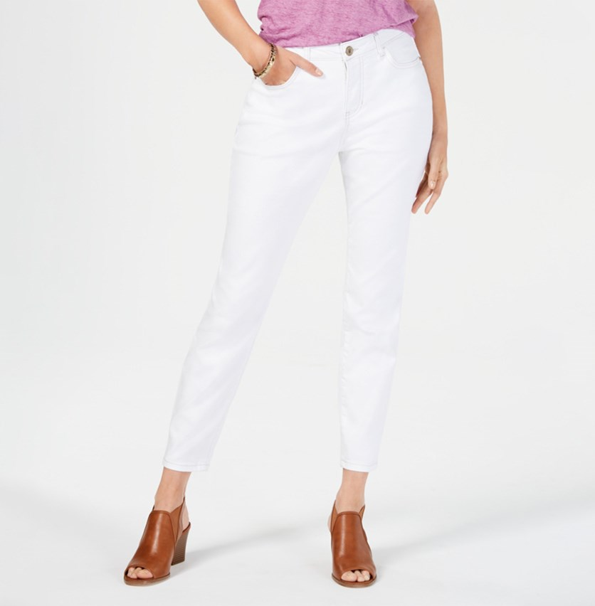 Power Sculpt Curvy-Fit Skinny Jeans, Bright White