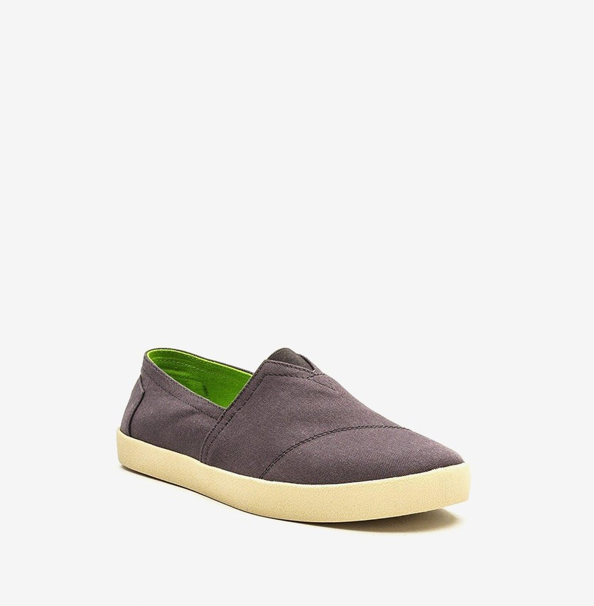 Men Avalon Slip On Shoes, Grey/Green