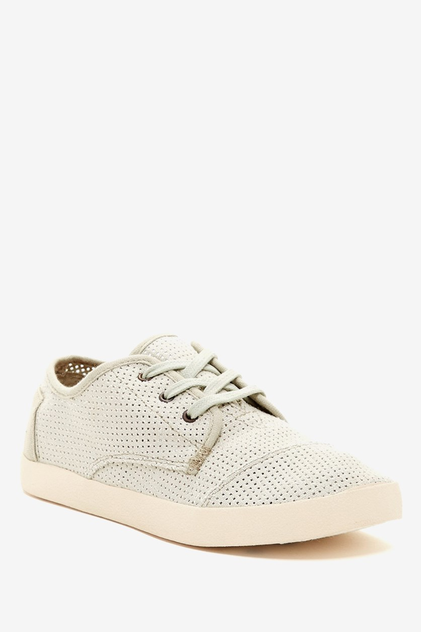 Women Paseo Perforated Sneaker, Beige