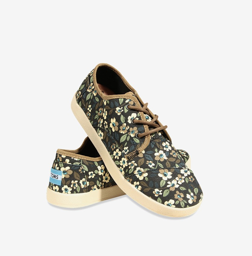 Women's Sneakers  Paseo With Flowers, Black Combo