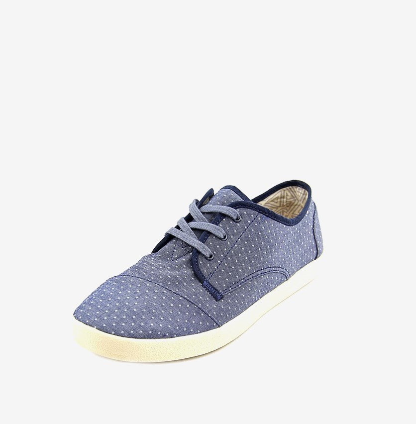 Women Paseo Chambray Polka Dot Sneaker, Chambray