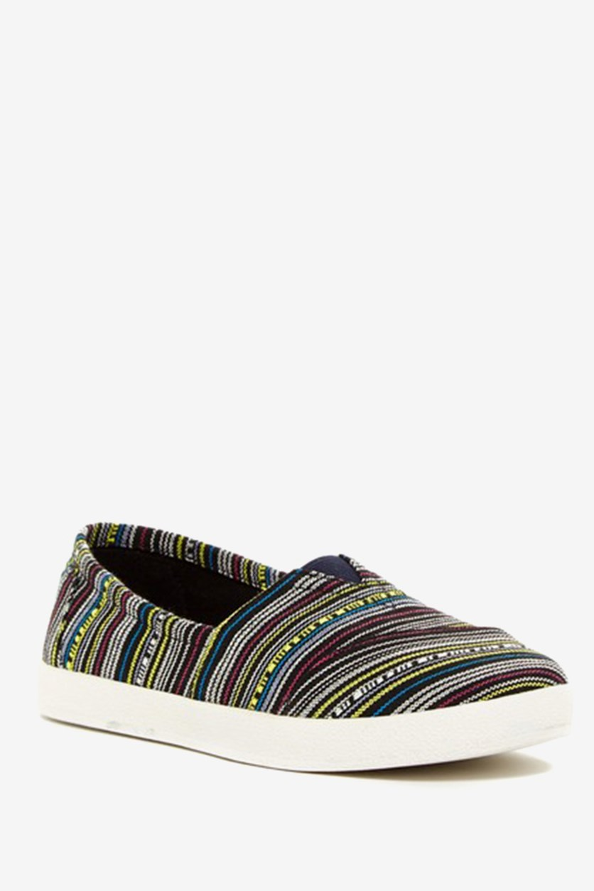Women's Western Stripe Slip-On, Black/Blue/White Combo