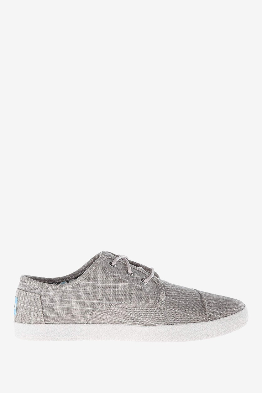 Women's Paseo Casual Lace Up Sneakers, Tan Metallic Linen