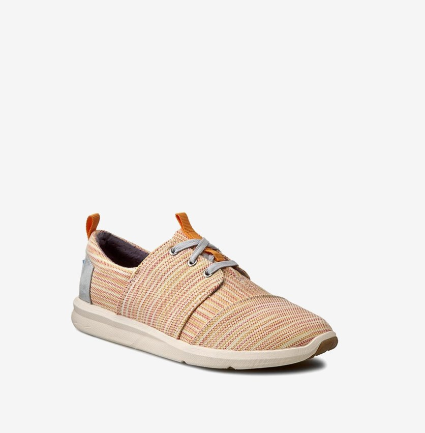 Women Del Rey Casual Shoes, Orange Combo Stripe