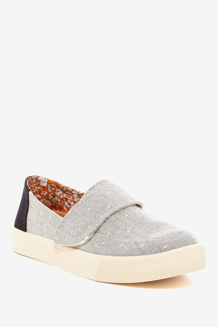 Women's Altair Chambray Slip-On Shoe, Grey Chambray Dot