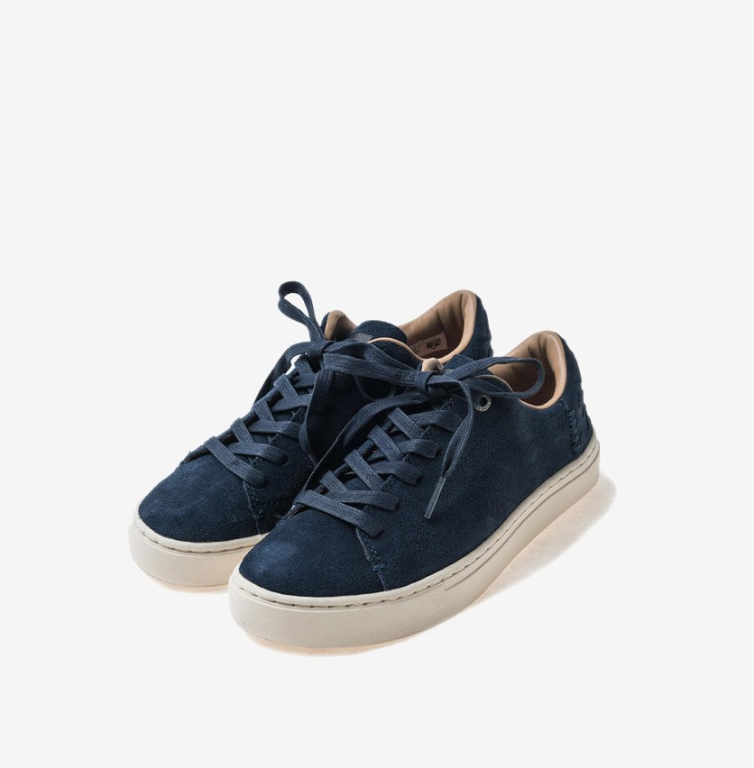 Women's Lace Up Lenos Shoes, Navy
