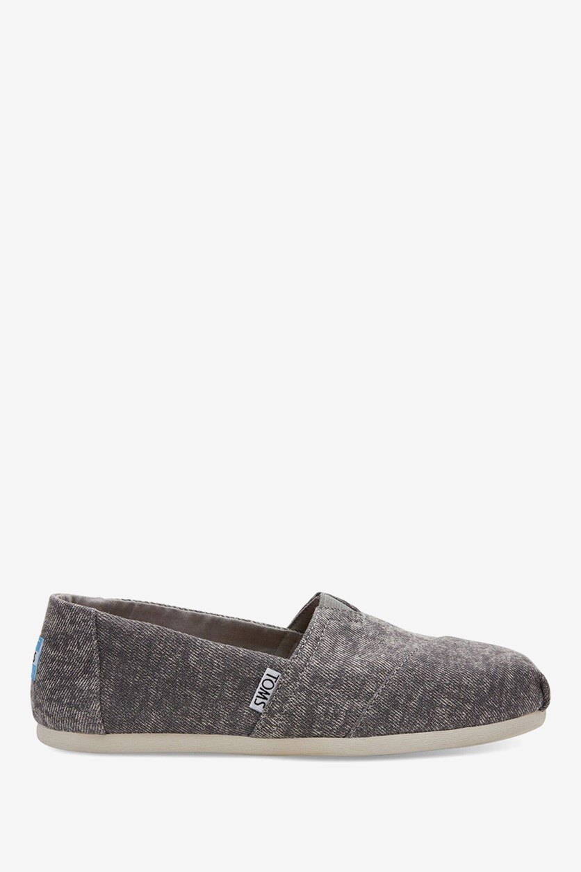 Women's Classic Flats Shoes, Wash Gray
