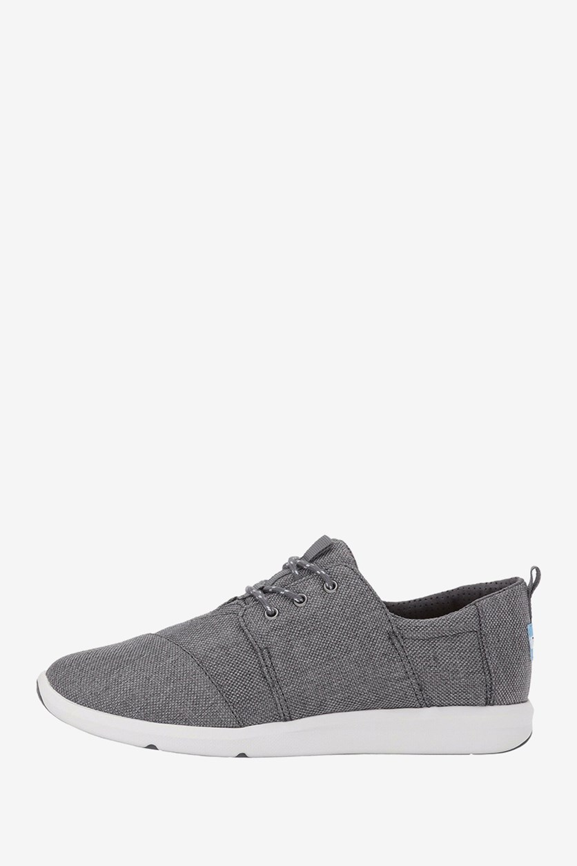 Women's Del Rey Lace Up Casual Shoes, Steel Gray
