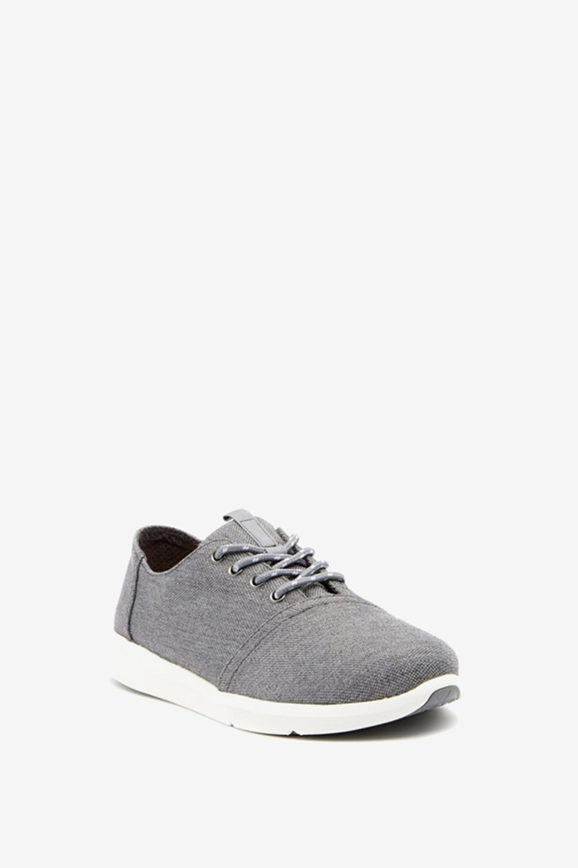 Tom's Men's Del Rey Lace Up Casual Shoes, Gray/White