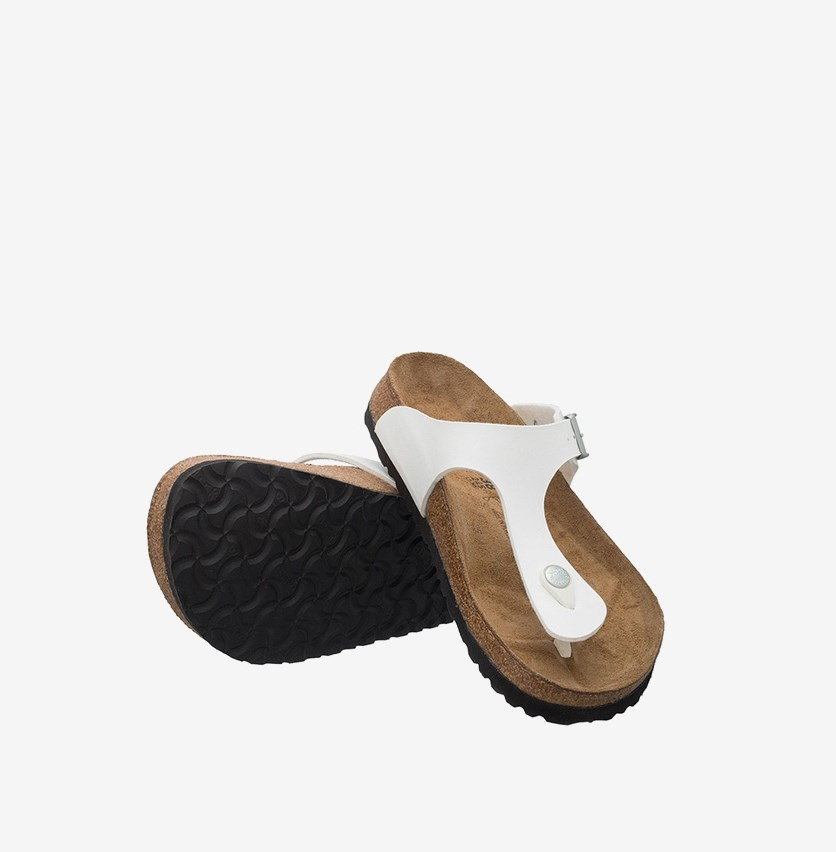 Unisex Gizeh - T-Bar Sandals, White/Brown