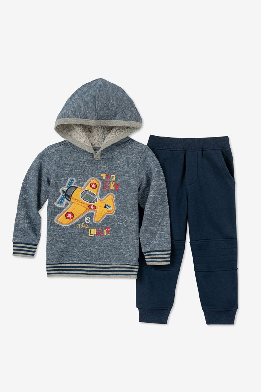 Baby Boy's Hoodie & Pants Set, Blue/Navy
