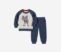 Kids Headquarters Baby Boys 2-Pc. Dog Hoodie & Jeans Set, Navy Combo