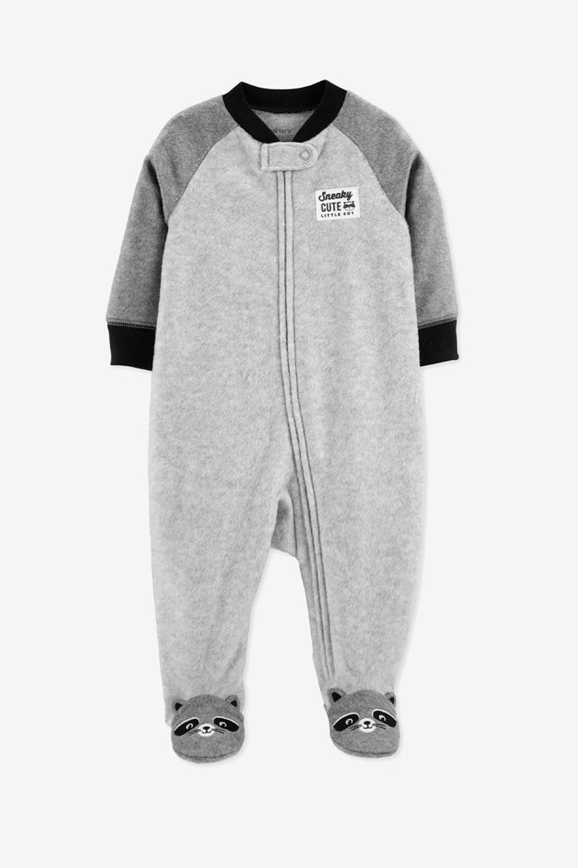 Baby Boys Footed Coverall, Gray