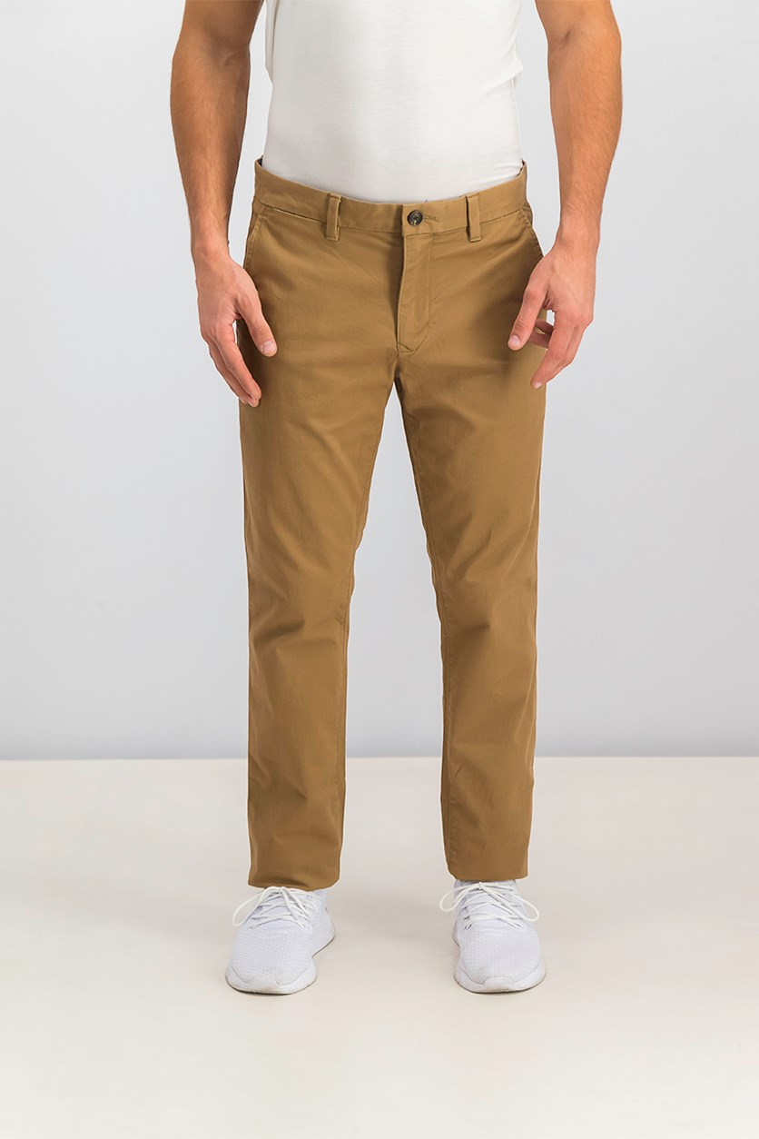 Men's Skinny Stretch Pants, Brown