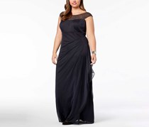 Xscape Women's Embellished Ruched Gown, Black