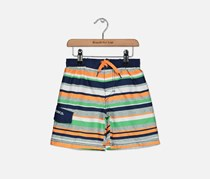 Skechers Baby Boys Stripe Trunks, Navy/White/Orange Combo