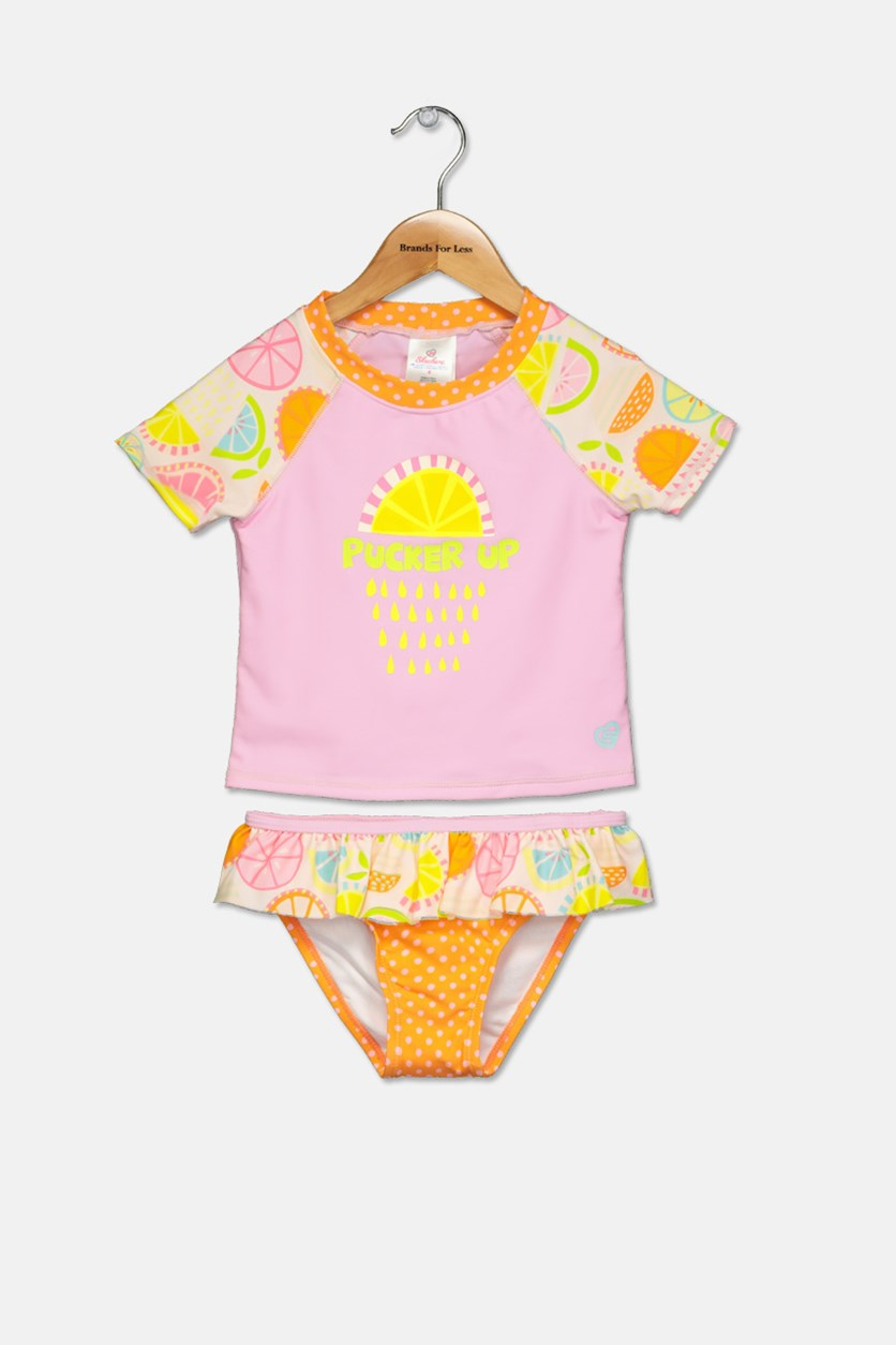 Toddlers Rash Guard Set, Citrus