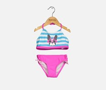 Skechers Toddlers Bikini Set, Blue/White/Pink