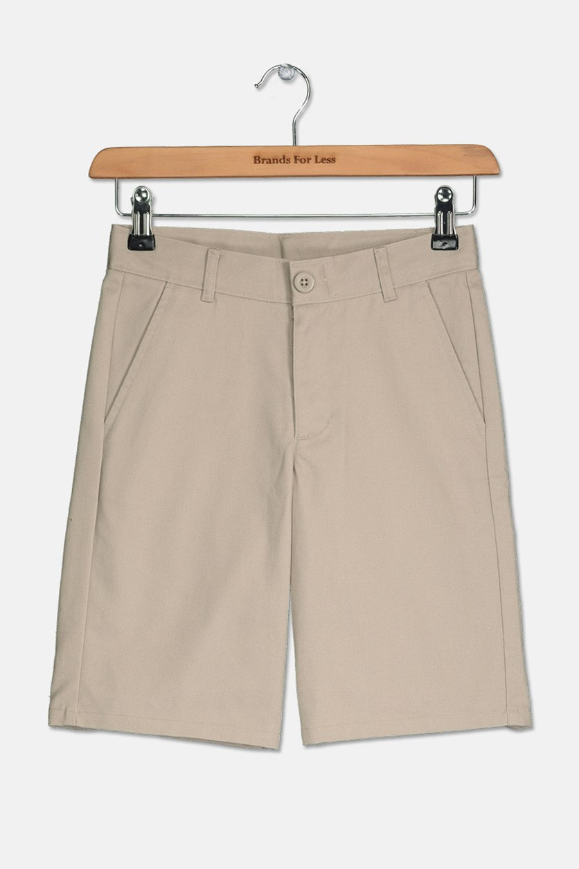 Boys School Uniform Short, Khaki