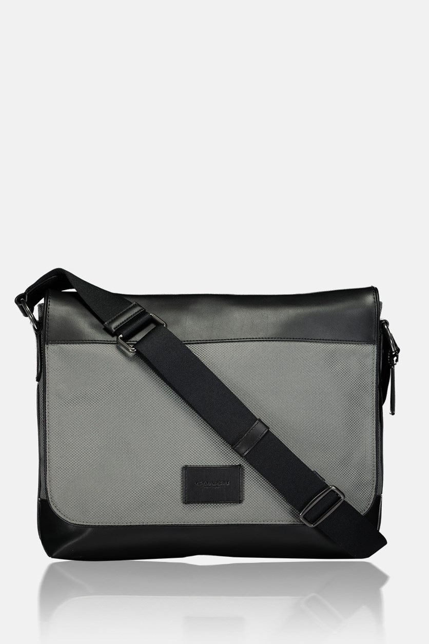 Women's Messenger Crosbody Bag, Black/Gray