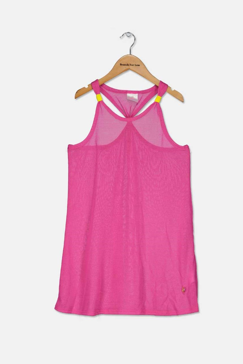 Girls Sleeveless Coverup, Pink