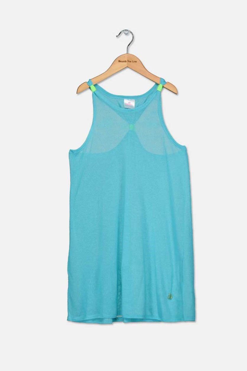 Girls Swimsuit Coverup, Turquoise