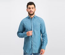 Gant Men's Regular Fit Casual Shirt, Indigo