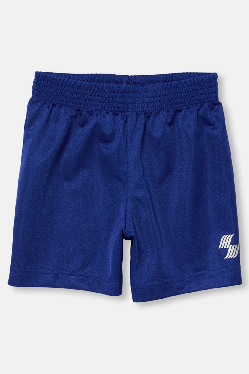Toddler Boys Solid Basketball Shorts, Edge Blue