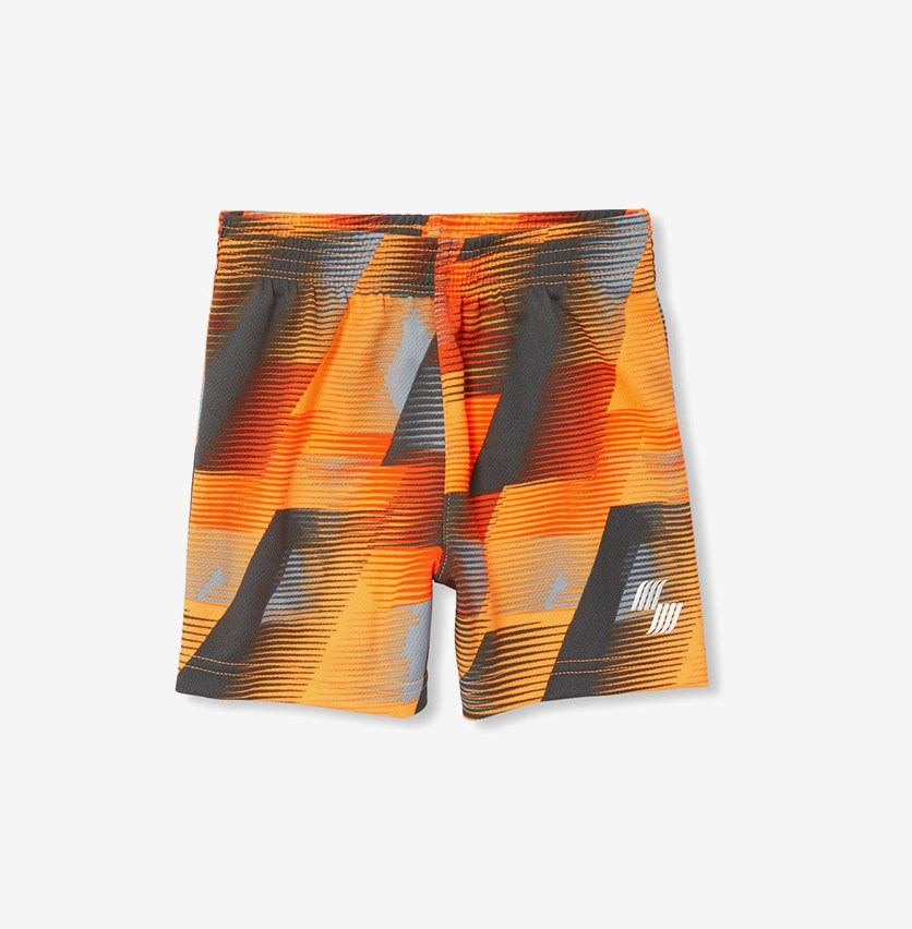 Baby Boy's Printed Short, Orange Combo