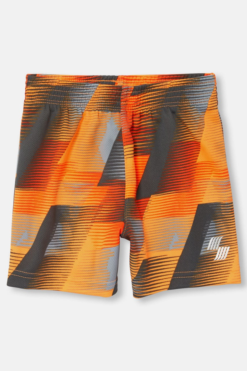 Toddler Boy's Pull On Short, Acapulco Sun Neon