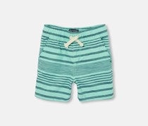 The Children's Place Toddler Striped Short, Mellow Aqua