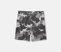 Place Sport Baby Boy's Camouflage Print Short, Frost Gray
