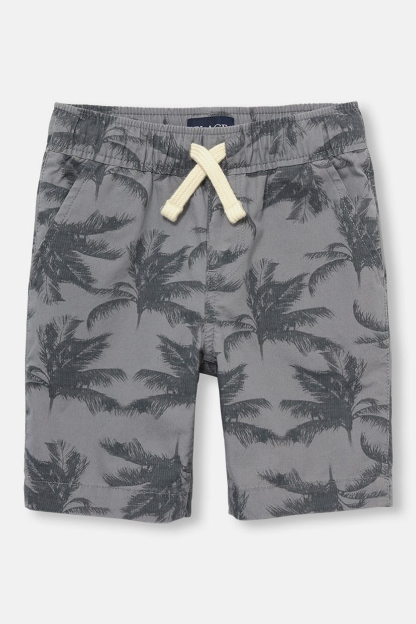 The Children's Place Kids Boy's Printed Short, Frost Gray