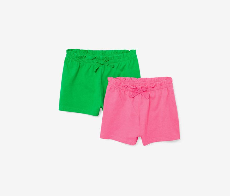 Shorts Set Of 2, Geranium/Pink