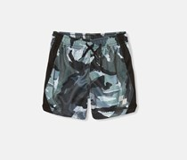 The Children's Place Baby Boys Printed Matchable Short, Black