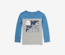 The Children's Place Baby Boys One Tough Dude Tee, Blue/Smoke
