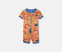 The Children's Place Toddler Allover Print Romper, Orange