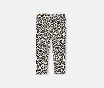 The Childrens Place Baby Girl's Animal Print Leggings, White Combo