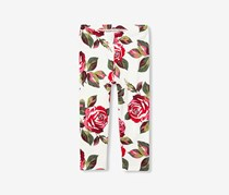 The Children's Place Girls Floral Leggings, Simply White