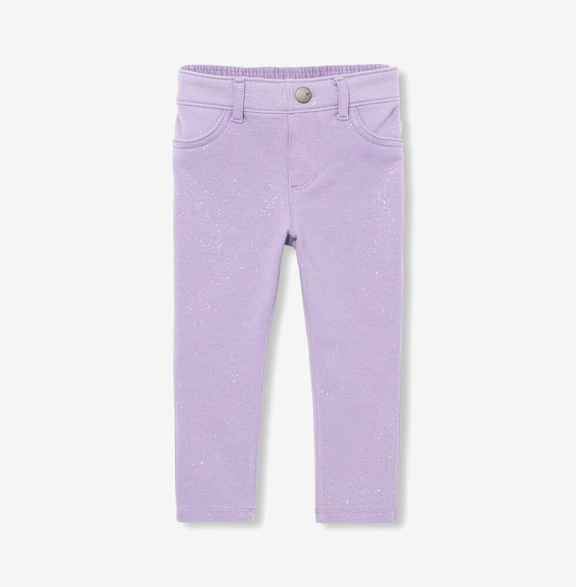 Little Girl's Glitters Pants, Grape Shadow