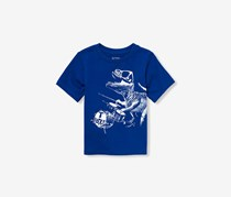 The children's place Toddler Dinosaur Print Top, Edge Blue