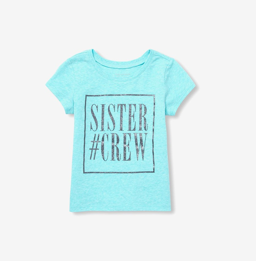 Sister Crew Tee, Time for Teal