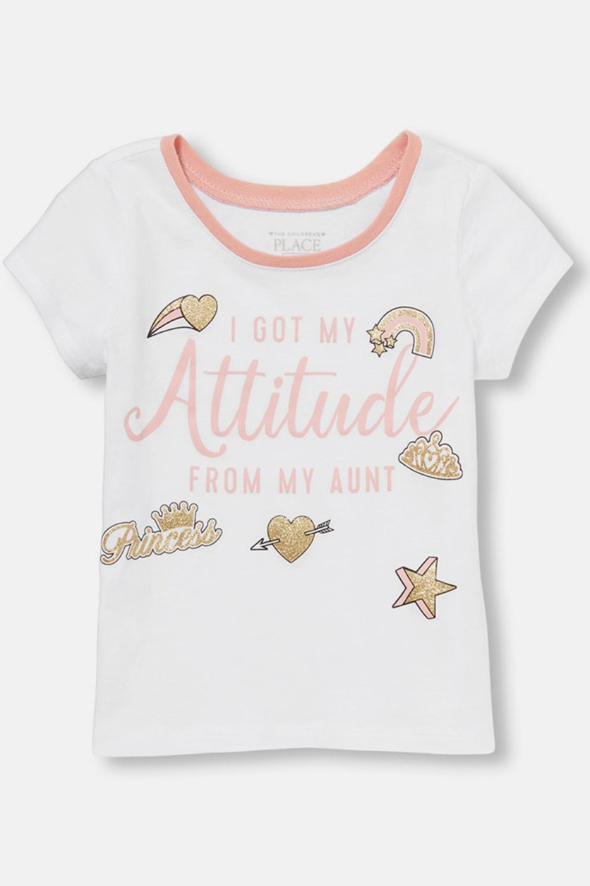 Baby Girl's Graphic Top, White