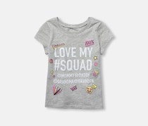 The Children's Place Graphic Print Tee, Falcon Heather