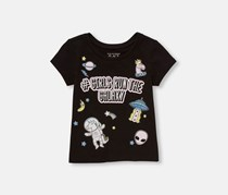 Toddlers Graphic Tee, Black